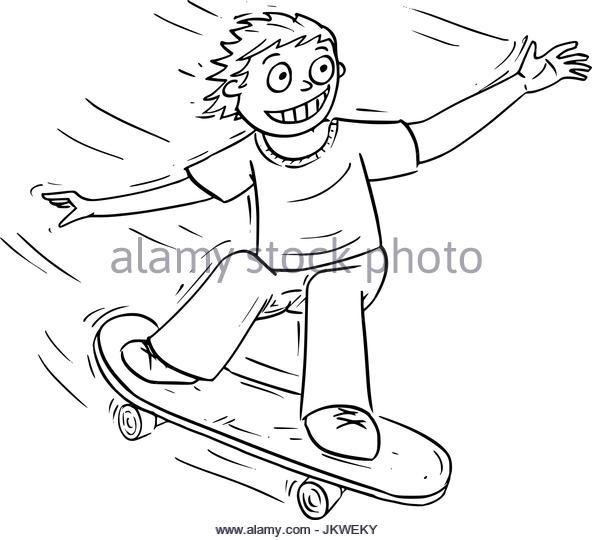 592x540 Skateboarding Stock Vector Images