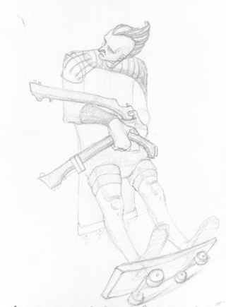 320x435 Skateboard Drawings On Paigeeworld. Pictures Of Skateboard