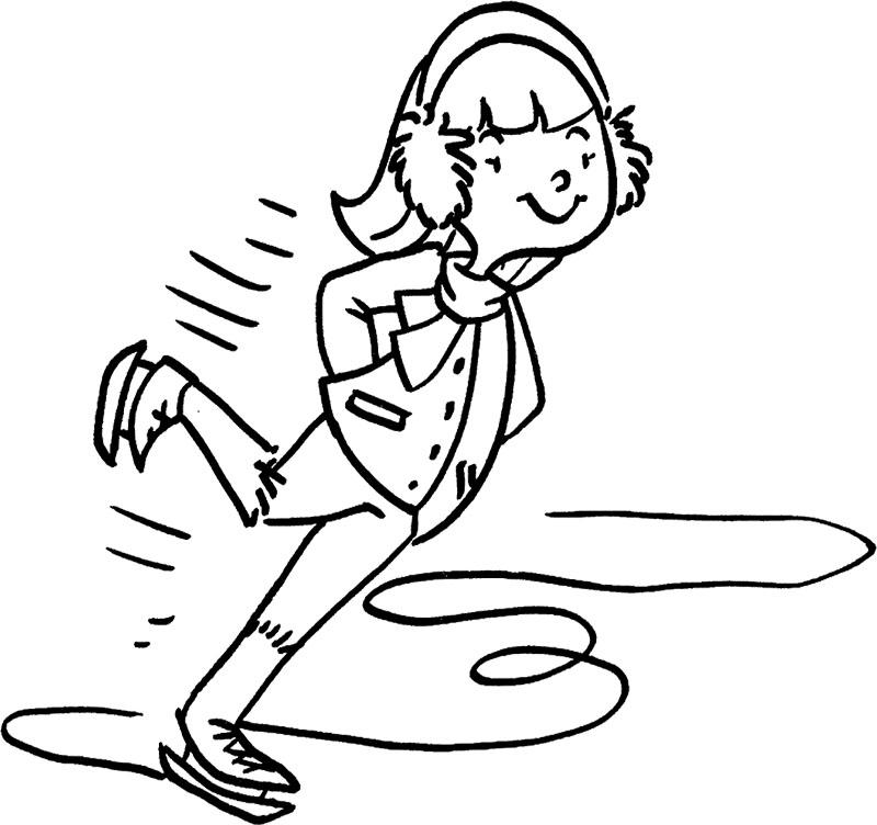 800x752 The Boy Enjoy Ice Skating Coloring Page Ice Skating
