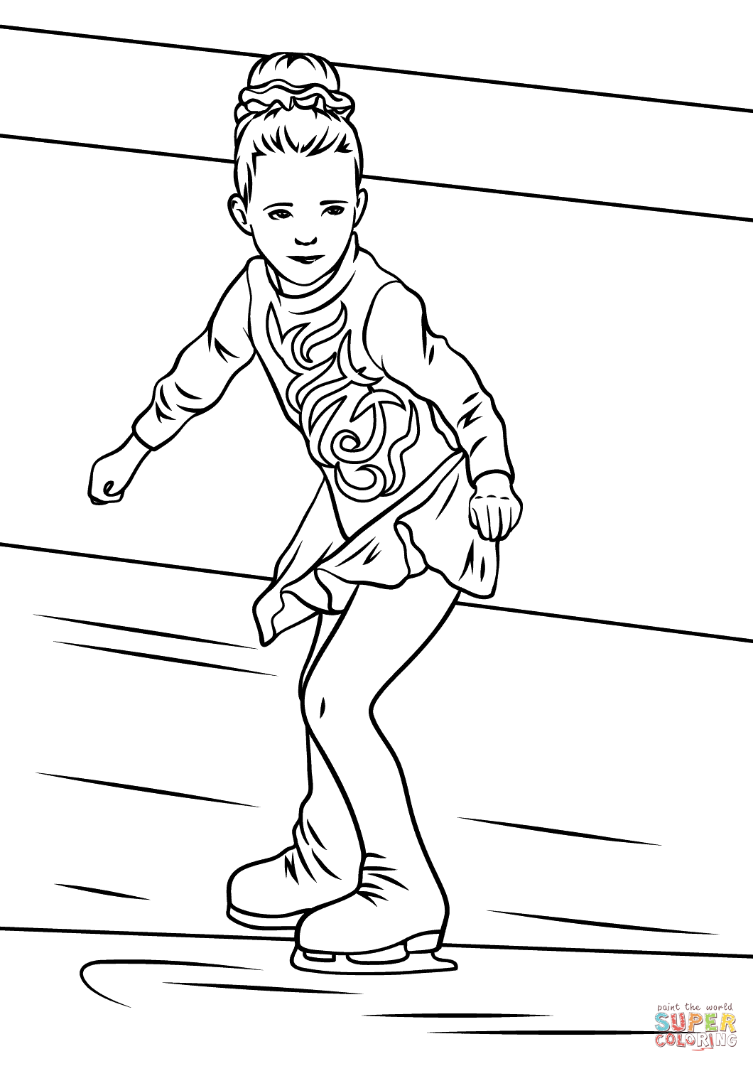 1060x1500 girl ice skater coloring page free printable coloring pages