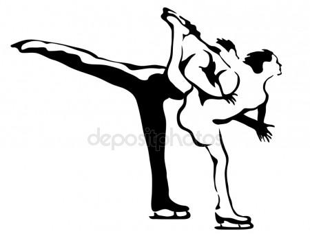 450x344 Figure Skating Stock Vectors, Royalty Free Figure Skating