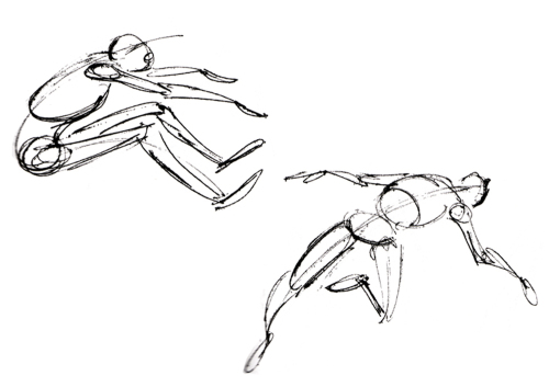 500x353 Skeletal Drawing Method. Find Images Of A Number Of Figures
