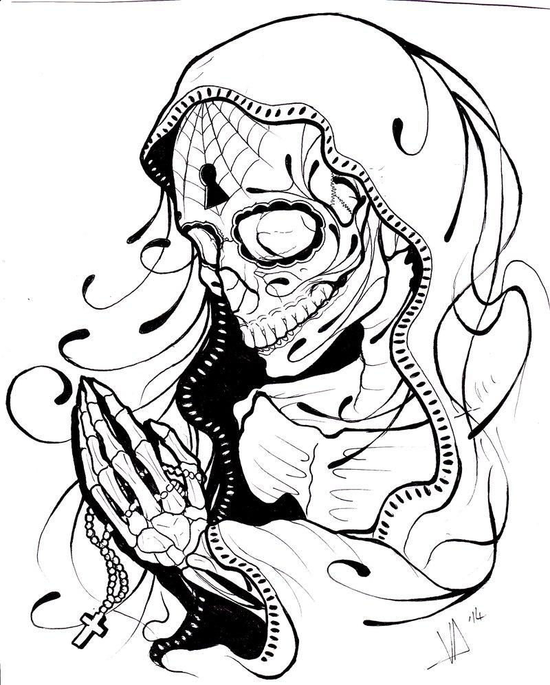 800x996 Prayer Skeletal By Magnasicparvis