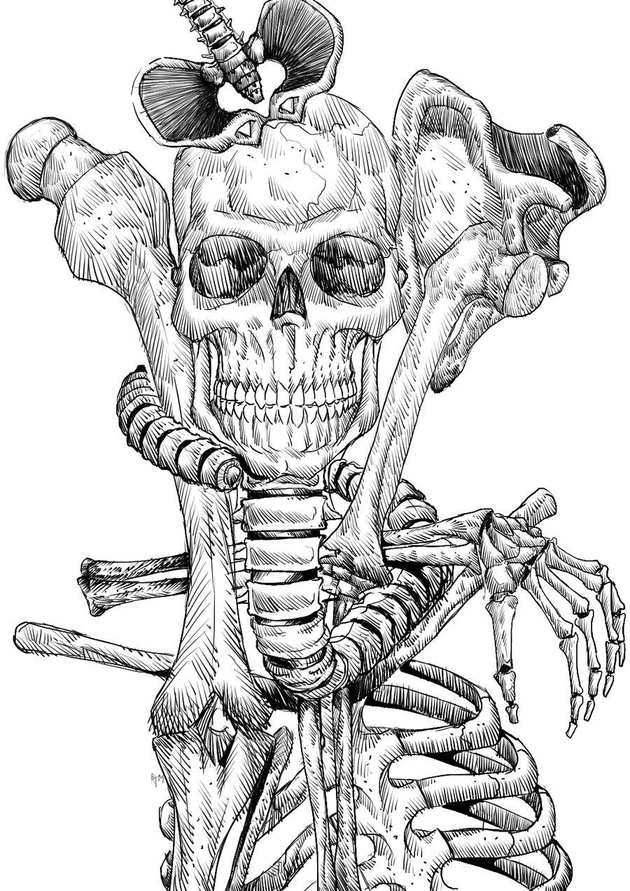 900x1273 Human Skeleton System Draw Pics Human Skeleton Drawing Lickclick