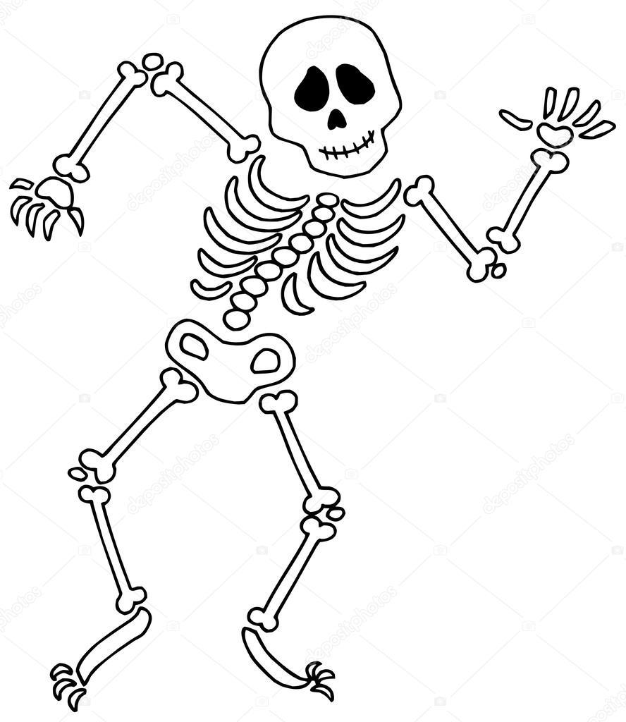 888x1024 Dancing Skeleton Stock Vector Clairev