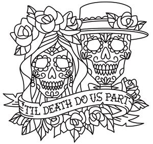 Skeleton Bride And Groom Drawing at GetDrawingscom Free for