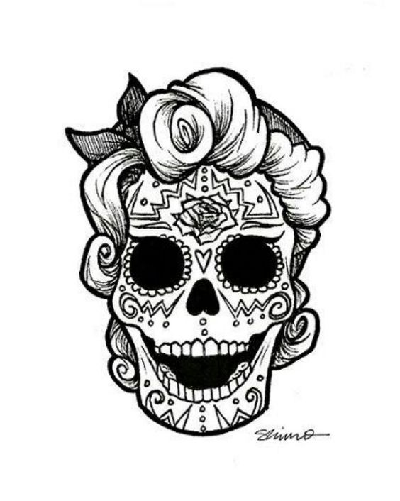564x706 Color Me Sugar Skull Face Sugar Skull Faces Sugar