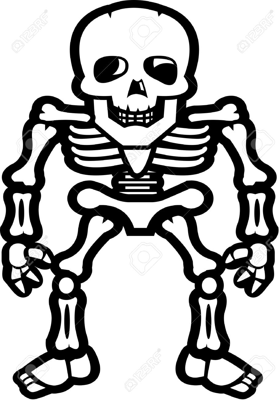 Skeleton Cartoon Drawing