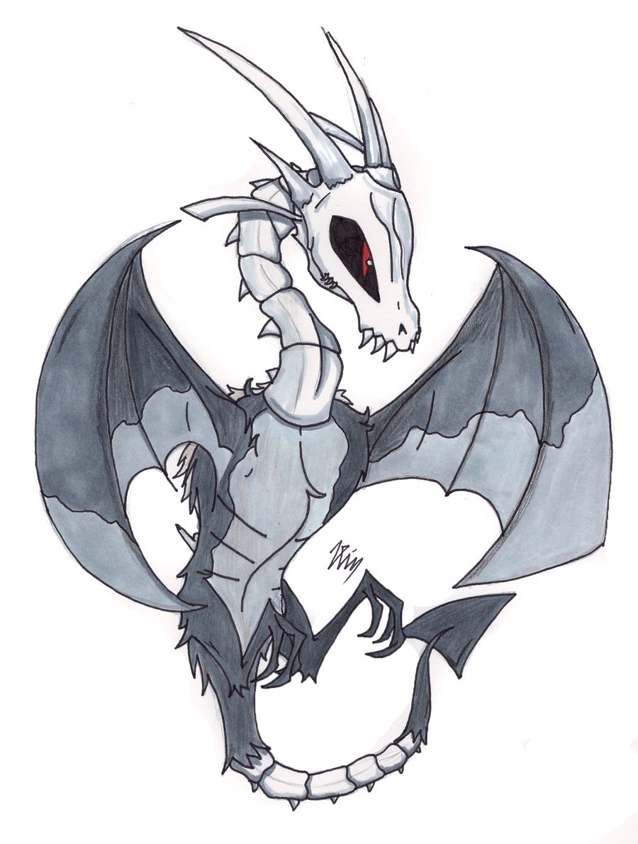 Skeleton Dragon Drawing