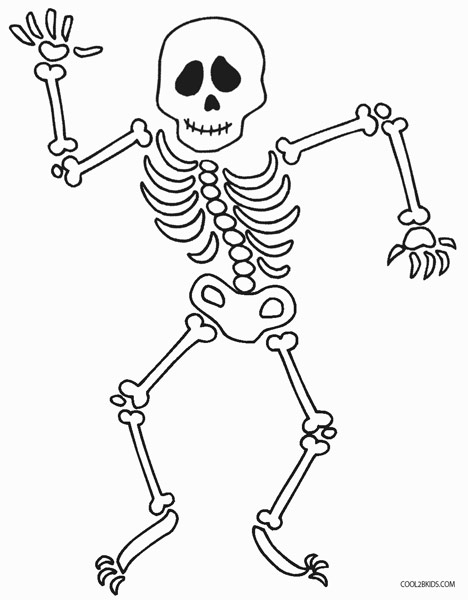 468x600 Last Minute Skeleton Coloring Pages Free Printable Halloween Page