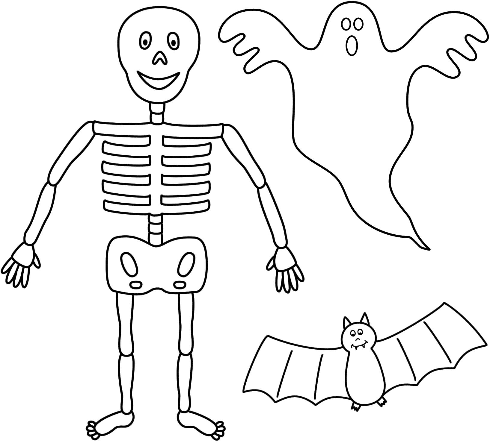 Skeleton Drawing Step By Step