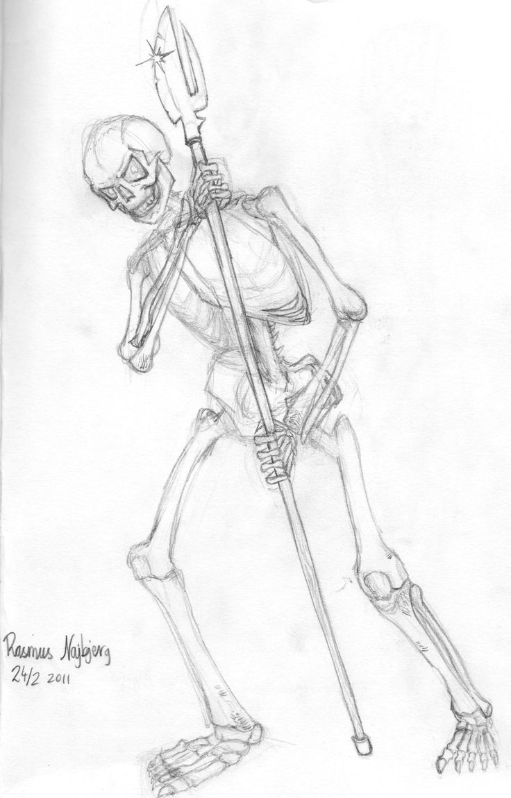 Skeleton Feet Drawing
