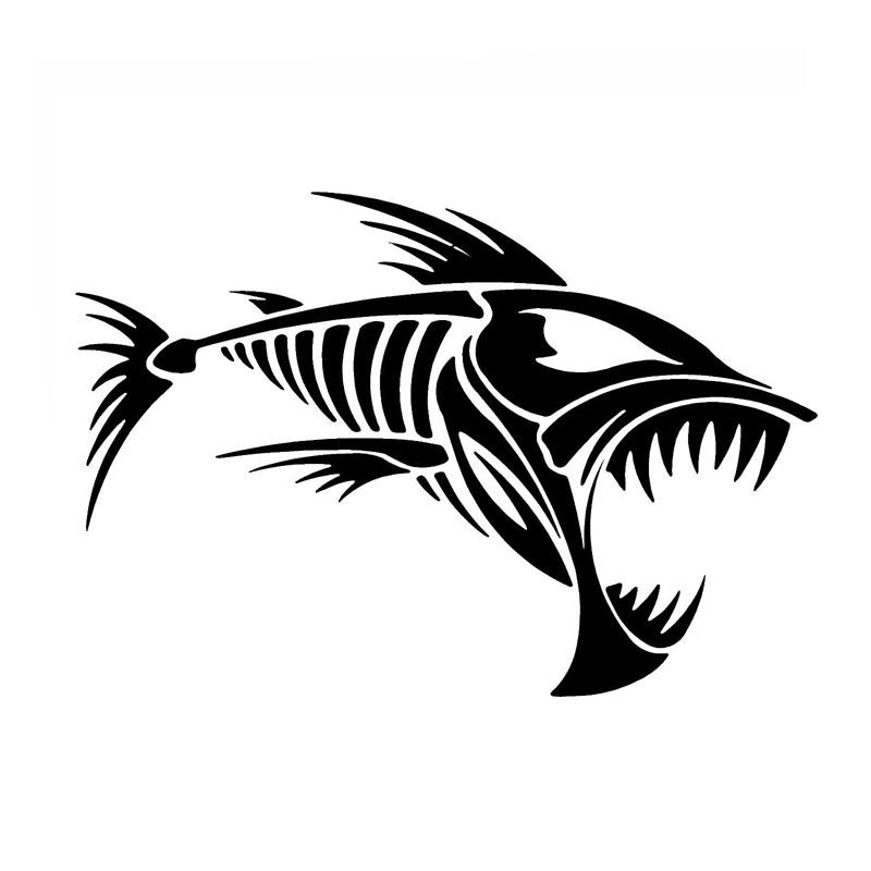 Skeleton Fish Drawing