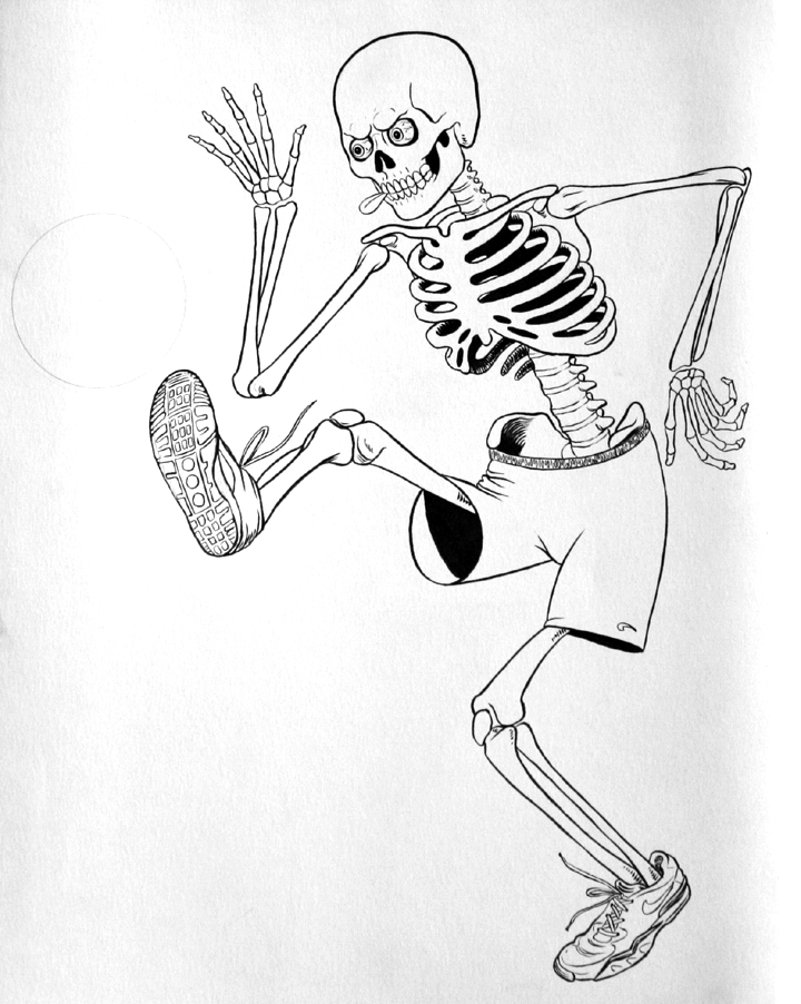 720x902 Soccer Playing Skeleton New Beat From Brain