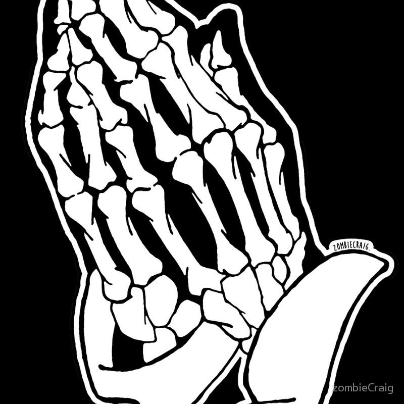800x800 Praying Skeleton Hands Alternative Spiral Notebooks By