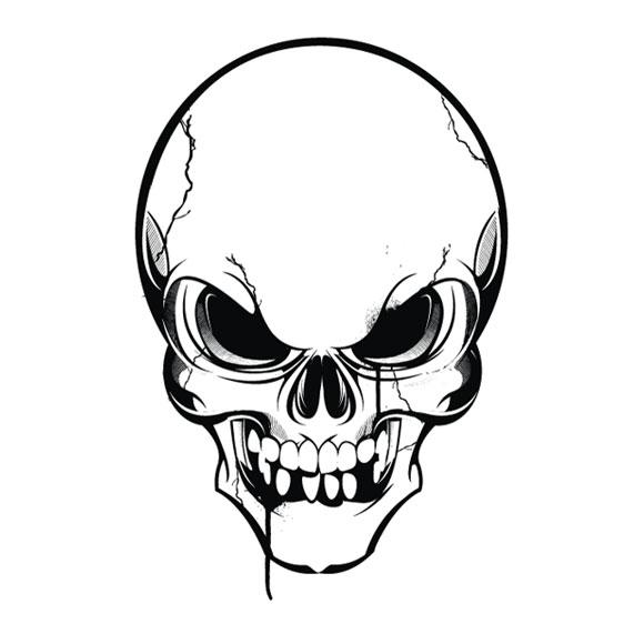 580x580 Gallery Skull Head Drawings,