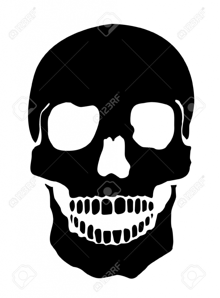 754x1024 Simple Skull Drawing Simple Illustration Of A Human Skull White