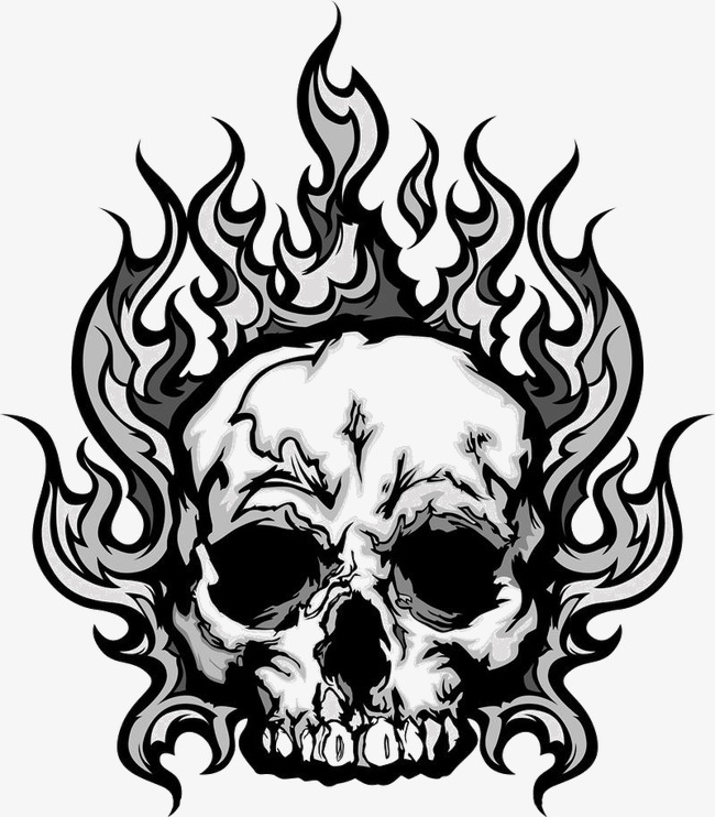 650x742 Cranial Skeleton, Skull, Flame Png Image For Free Download