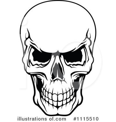 400x420 Head Clipart Black And White
