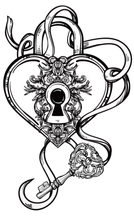 444x721 The Key To My Heart Celestial Alchemy Rosalie Young Coloring