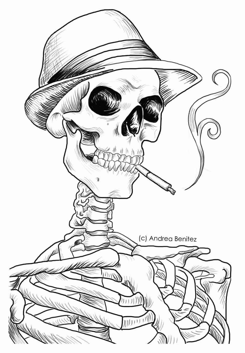 Skeleton Line Drawing