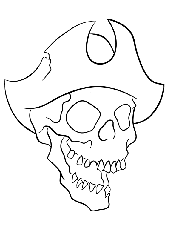 Skeleton Pirate Drawing at GetDrawings   Free download