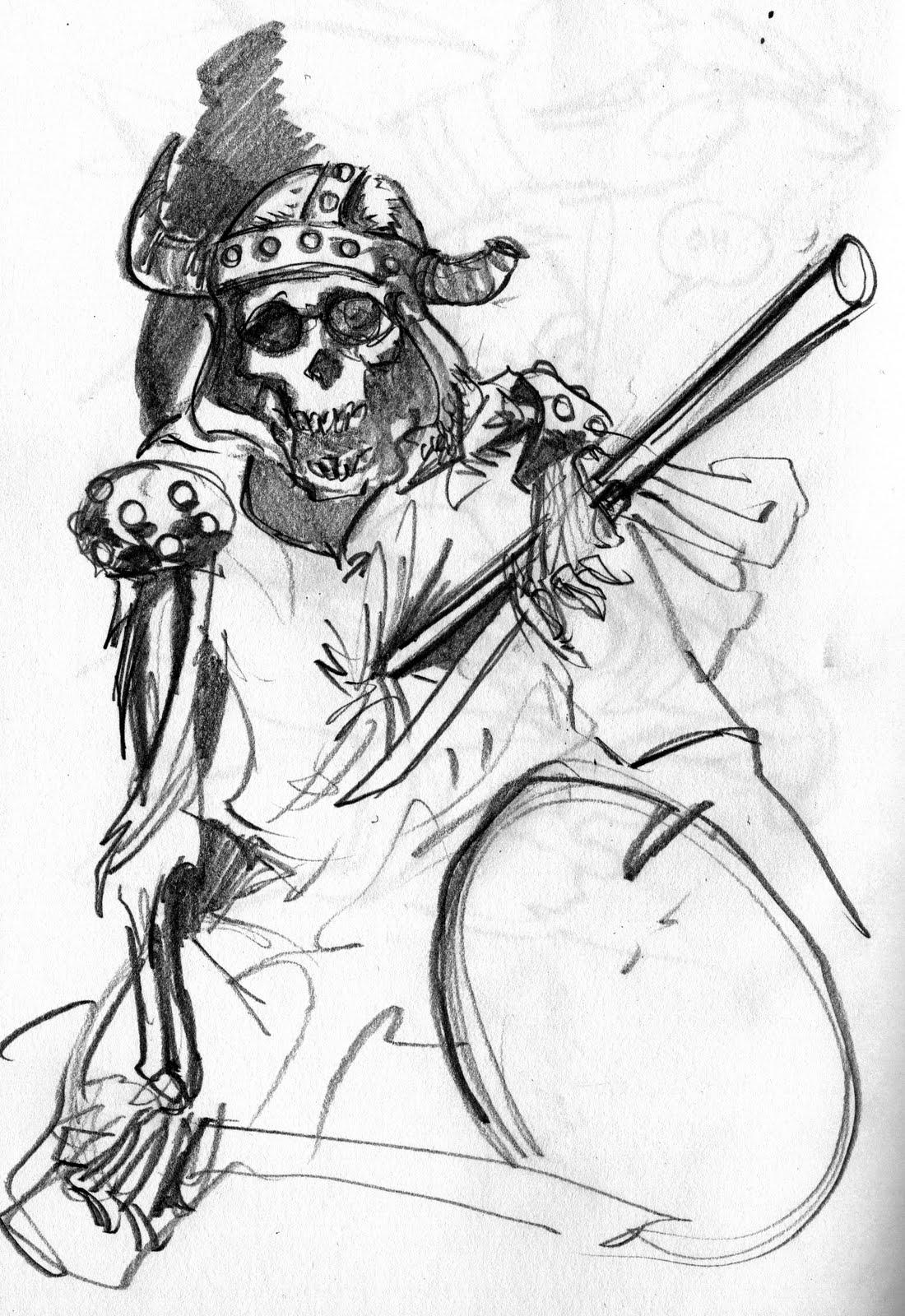 1100x1600 George O'Connor's Online Sketchbook Warrior, Skeletonized
