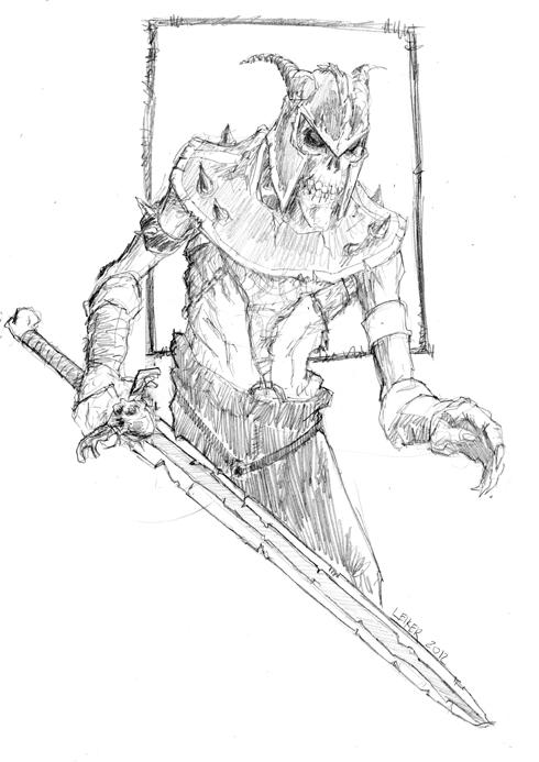 490x693 Skeleton Warrior By Mothbot
