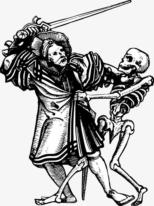 650x865 And Skeleton Warriors Fighting, Skeleton, Man, Sword Png Image