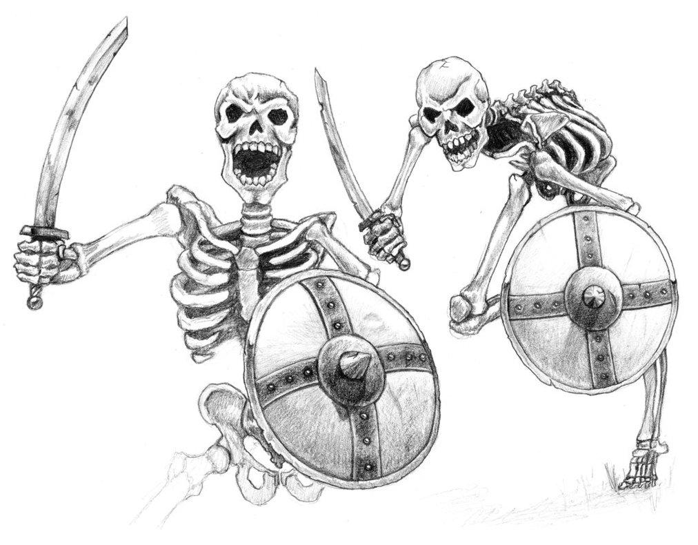 1012x790 Skeleton Warriors By Aaronbradbury