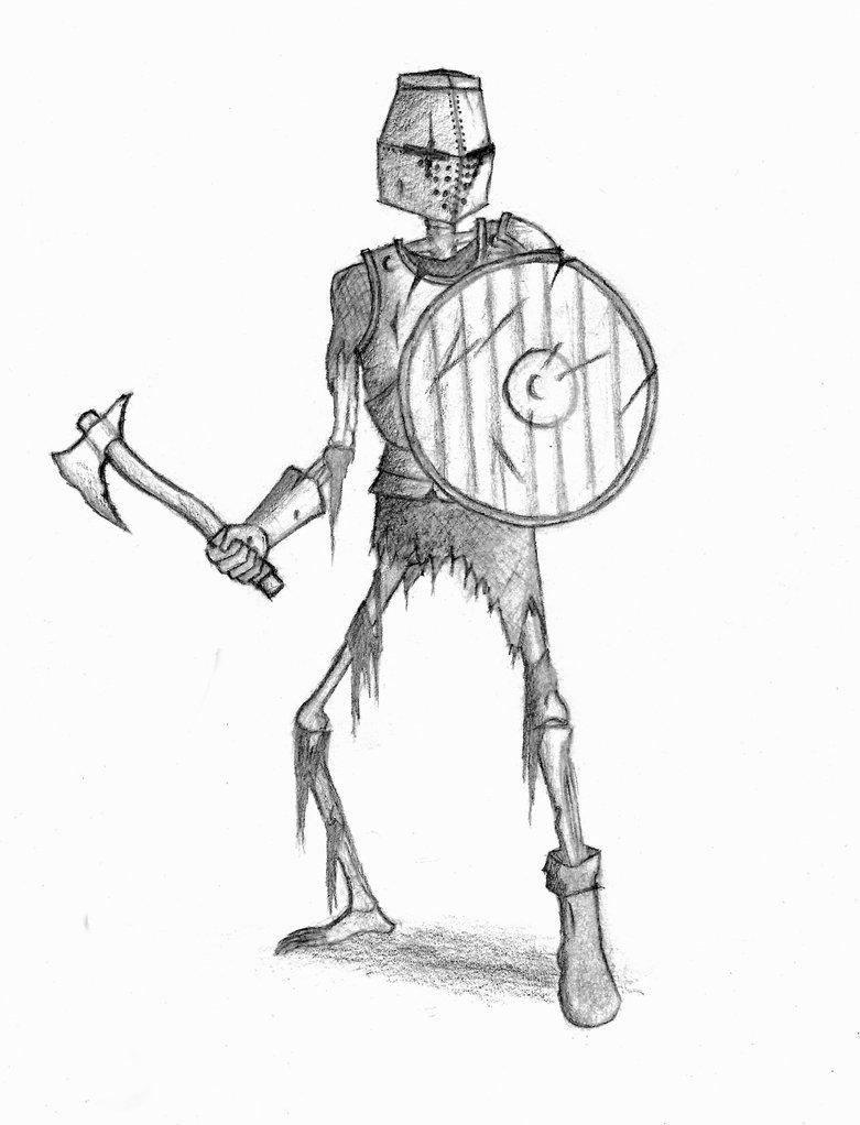 781x1022 Skeleton Warrior By Vayneik