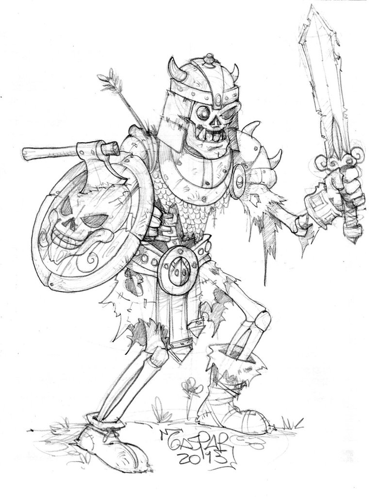 779x1026 Skeleton Warrior Character By Gasparsabater