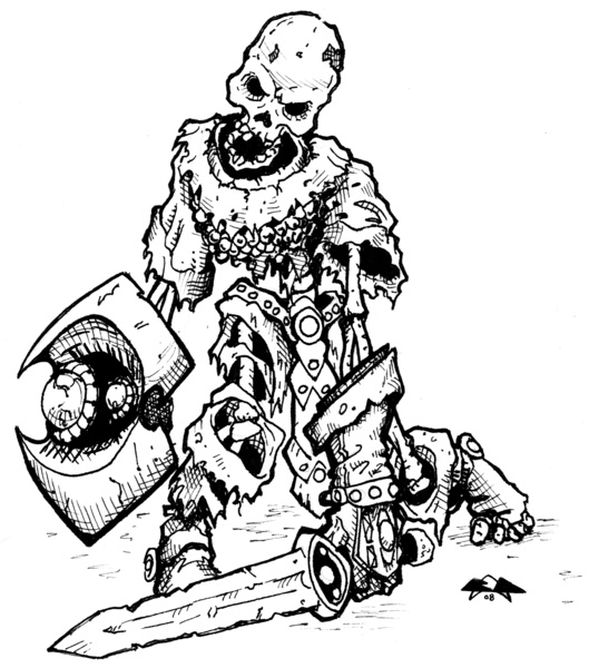 Skeleton Warrior Drawing at GetDrawings.com | Free for personal use ...