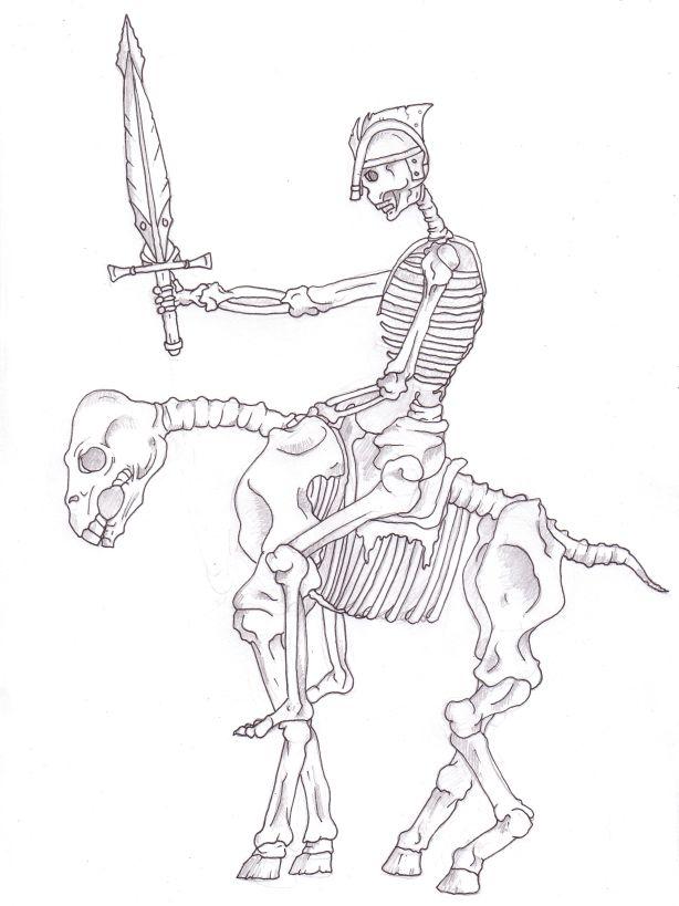 614x819 Skeleton Warrior By Firanooniel