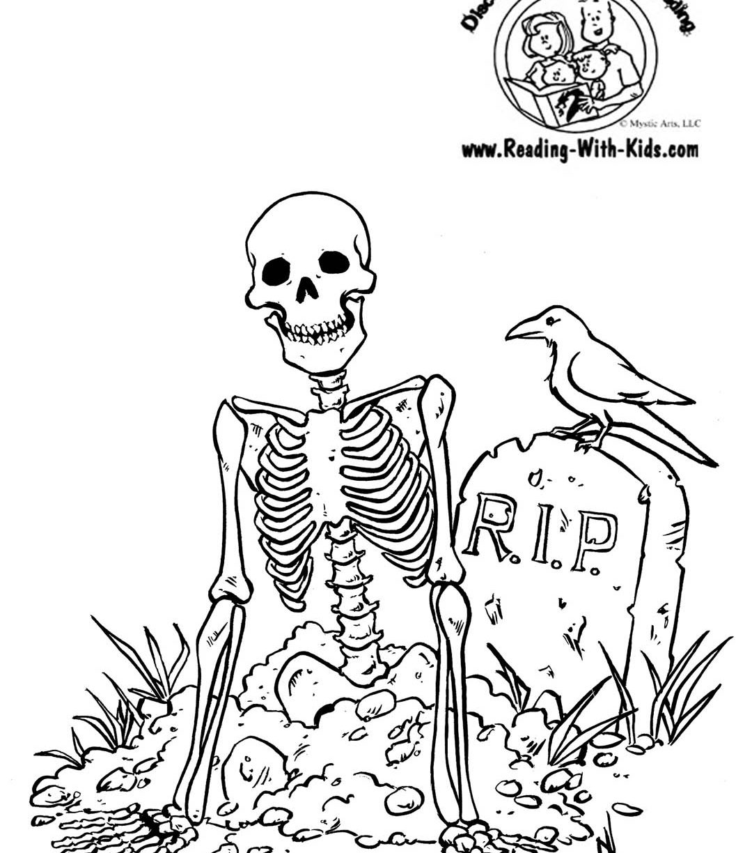 1080x1224 Charming Skeleton Coloring Pages Pictures Inspiration