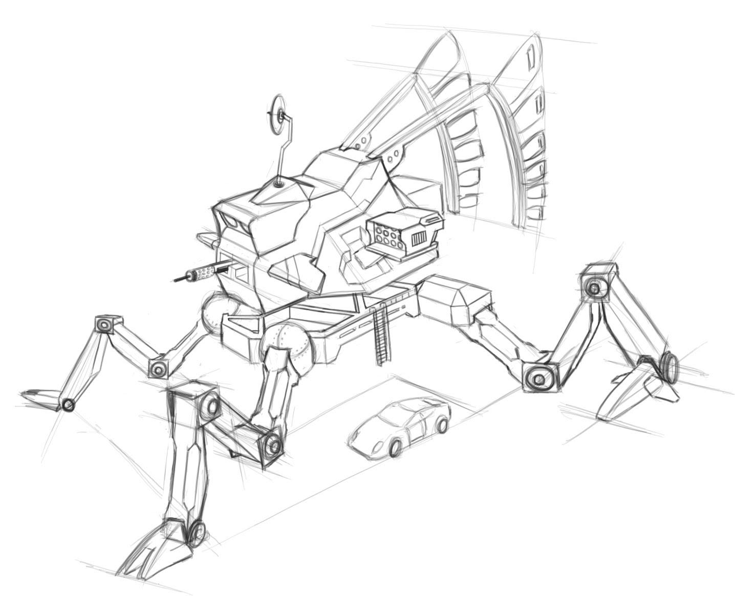 1436x1165 Concept Art Robot Sketching Tutorial (Part 2)