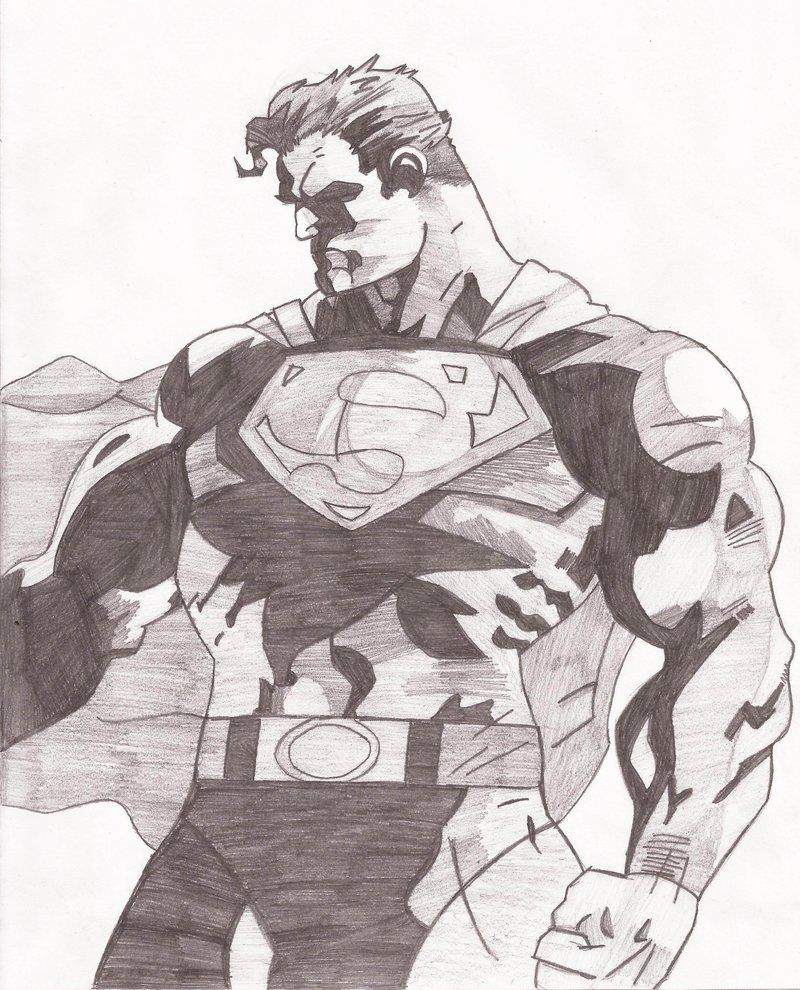 800x990 Superman Sketch By Superheroarts
