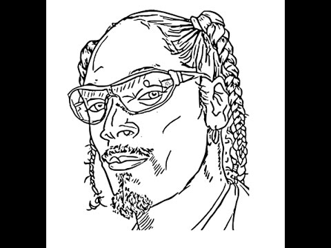 480x360 How To Draw Snoop Dogg Face Sketch Drawing Step By Step