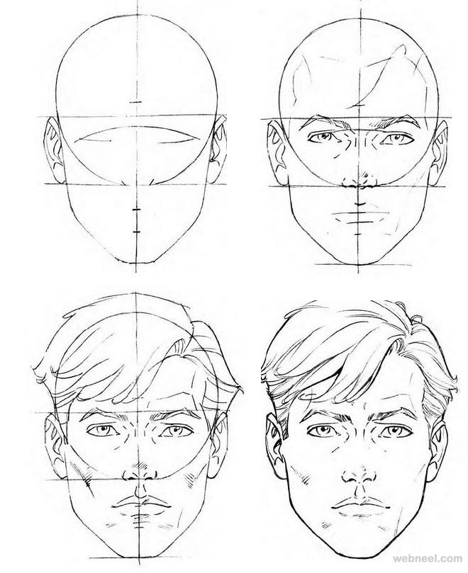 660x809 Gallery Step By Step Face Sketch,