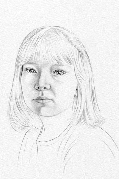 400x600 Pencil Portrait Drawing