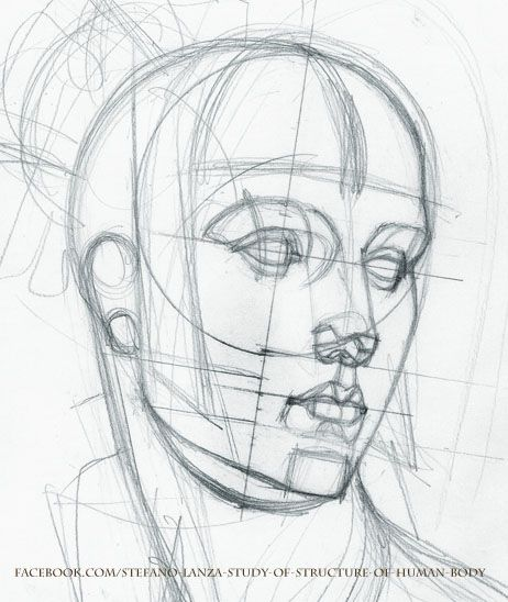 Sketch Face Drawing at GetDrawings.com | Free for personal use ...