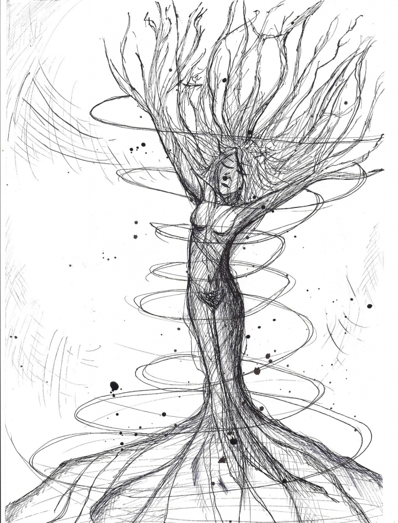 780x1024 Mother Nature Pencil Sketch Mother Nature Drawings Mother Earth