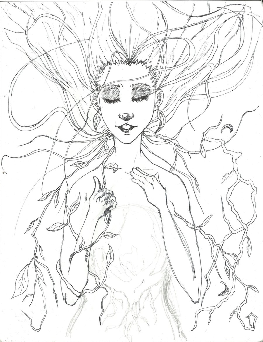 900x1168 Mother Nature Sketch By Gunslinger Ex