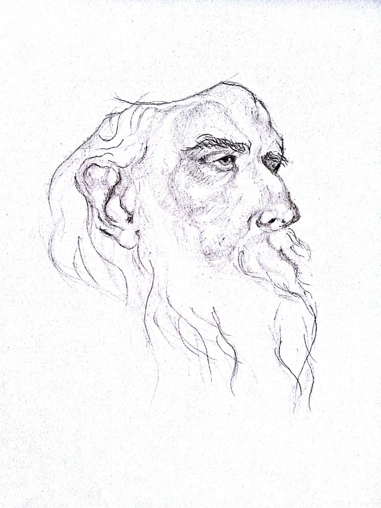 768x1024 pencil sketch for drawing rabindranath tagore picture in pencil