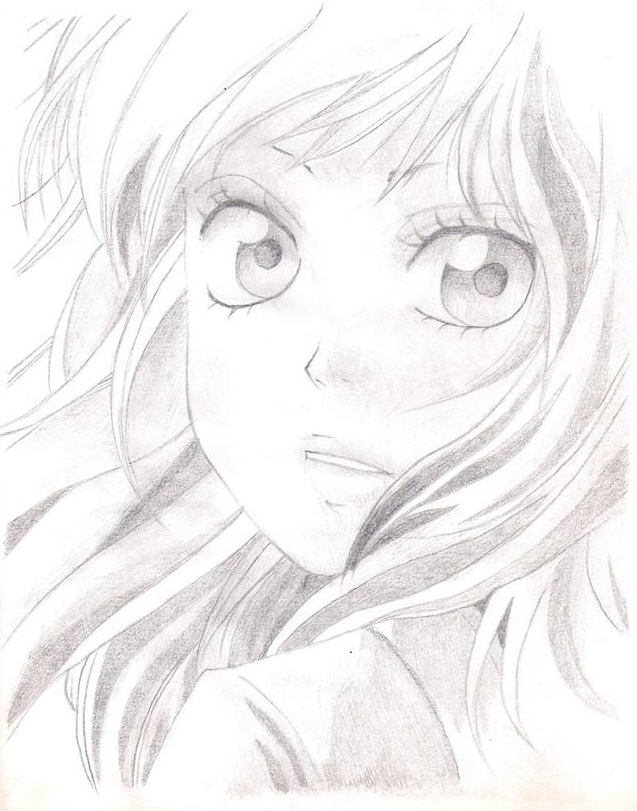 637x811 Pencil Drawings On Anime Drawing Group