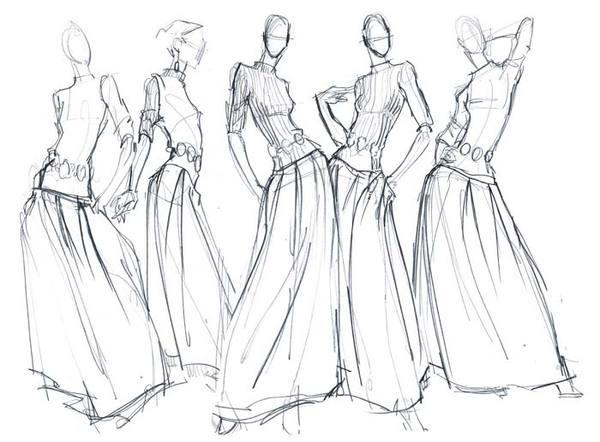 600x442 Fashion Illustration Pencil Drawing Fashion Illustration Pencil