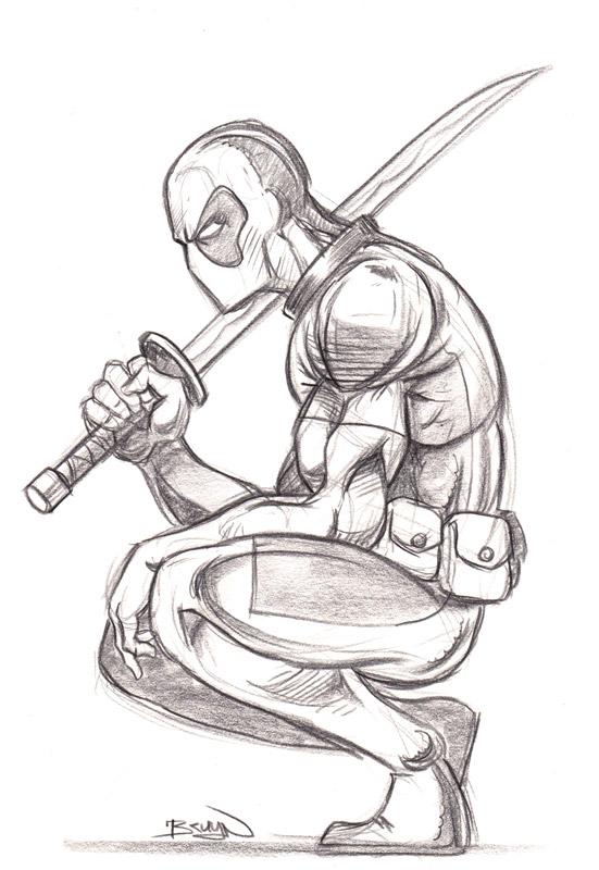 551x800 Pencil Drawings Deadpool Drawings In Pencil