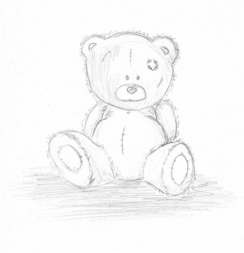 989x1024 Teddy Bear Pencil Sketch Painting Teddy Bear Pencil Painting