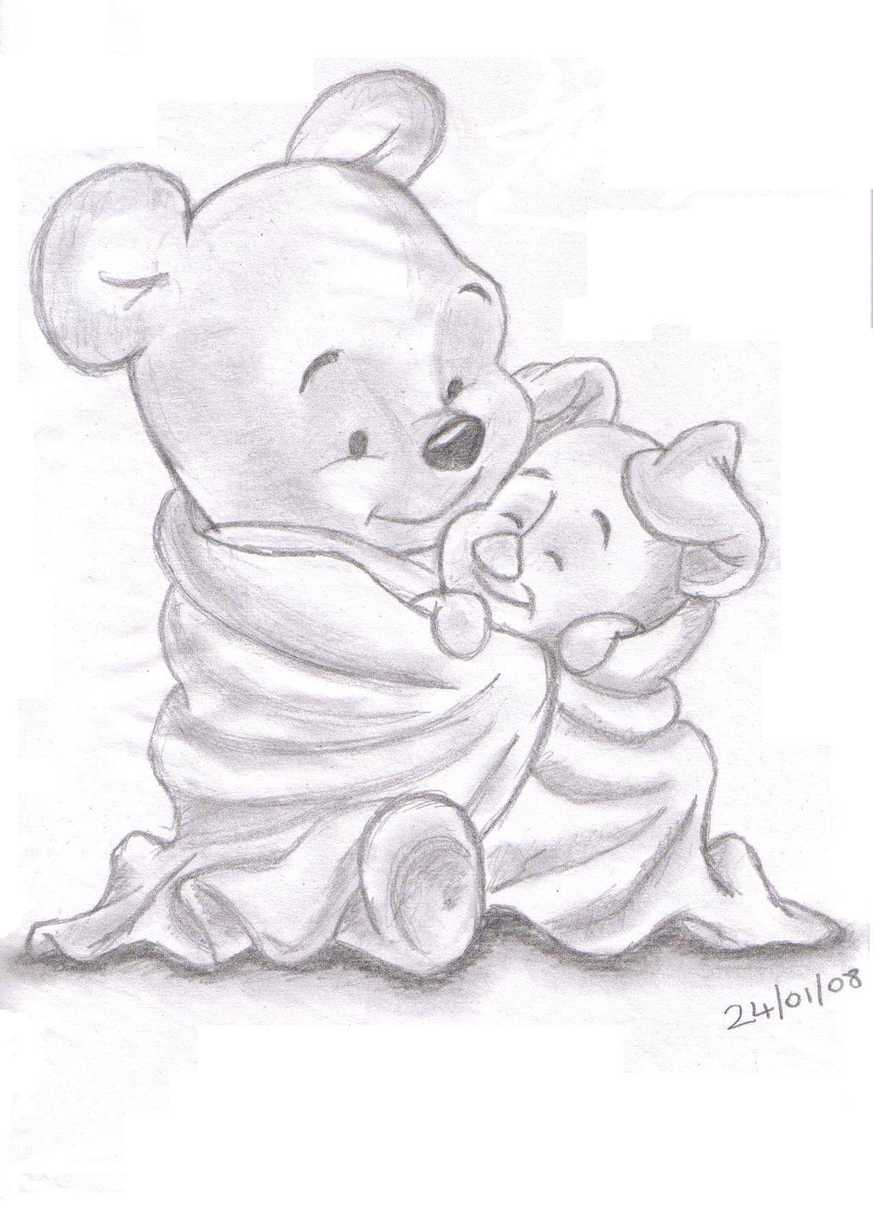 1270x1754 Winnie The Pooh 3d Sketch Pencil