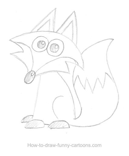 425x515 Fox Drawings (Sketching + Vector)